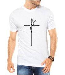 camiseta criativa urbana fé religiosa masculina