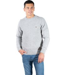 sweater gris pato pampa base liso c/ pitucones puelen gris claro