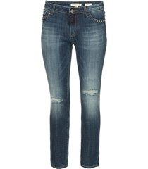 jeans met ripped details en studs romy  blauw