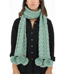 bufanda tejida verde humana