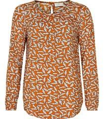 kaffe 10503179 kafeather amber blouse orange maple