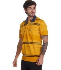 camiseta tipo polo-mostaza-puntazul-41348