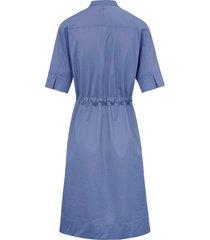 jurk met staand kraagje en knoopsluiting van bogner blauw