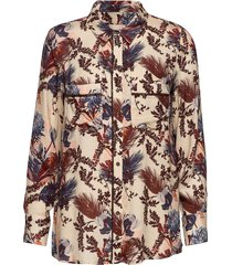 kelly beaux shirt blouse lange mouwen multi/patroon mos mosh