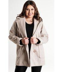 chaqueta corta paño sintético beige night concept