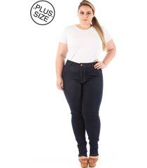 calça jeans skinny bolso-faca plus size