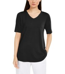 eileen fisher v-neck high-low top
