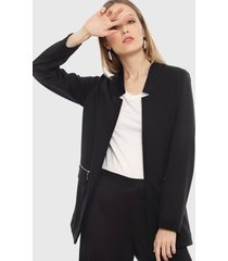 blazer ash liso negro - calce regular