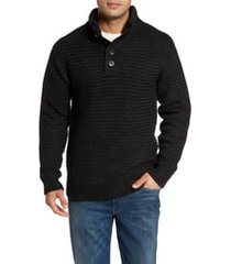 schott nyc military henley sweater, size xx-large in black at nordstrom