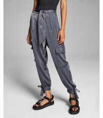 and now this women's satin cargo pants