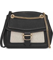 cartera nine west harper convertible flap xbody - negro