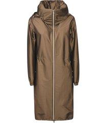 herno zipped large hood parka