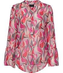 3388 - estelle cuff blouse lange mouwen roze sand