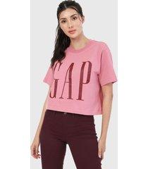 camiseta rosado-vinotinto gap