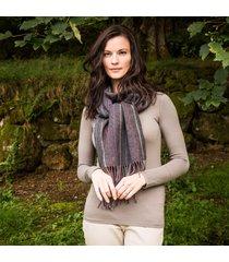ladies' charcoal rainbow lambswool scarf