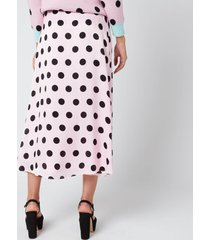 olivia rubin women's penelope skirt - black/pink polka dot - us 2/uk 6