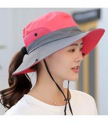 unisex de malla de verano de ala ancha sombreros para el sol para las