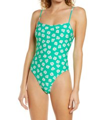 billabong x wrangler going green one-piece swimsuit, size x-large in clover at nordstrom
