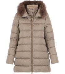 herno a-shape down jacket