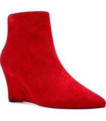botín cuero gamuza carter rojo mujer nine west