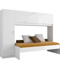 cama guarda-roupa 1900 complementa branca-premium multimóveis