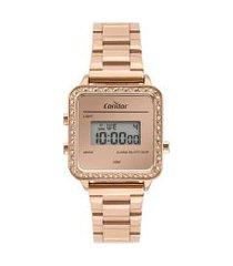 relógio digital condor feminino - cojh512al4j rosê