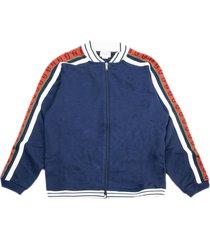 gucci navy blue cotton sweatshirt
