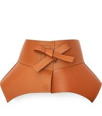 'obi' leather belt
