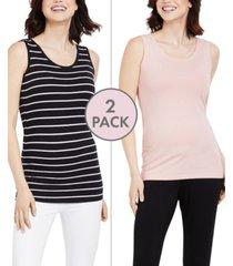 bumpstart maternity tank top, two-pack