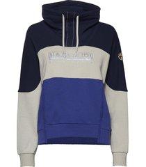 bhell w hoodie trui blauw napapijri