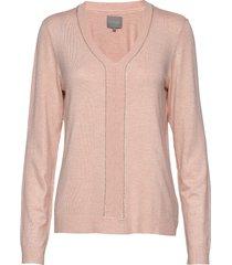 cuannemarie v-neck stickad tröja rosa culture