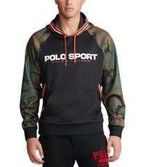 polo ralph lauren men's big & tall retro double-knit hooded sweatshirt