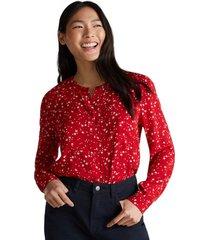 blusa escote redondo rojo esprit