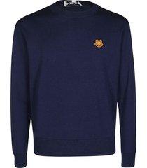 navy blue wool sweatshirt