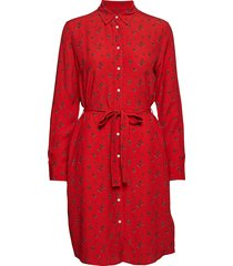 d1. breezy harvest shirt dress jurk knielengte rood gant