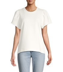 rebecca minkoff women's greta short-sleeve sweatshirt - white - size l