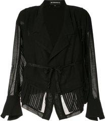 ann demeulemeester tie waist jacket - black