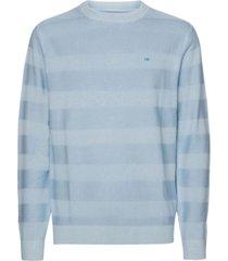 sweater gmd texture stripe c-nk azul calvin klein