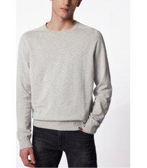 boss men's kabiro silver sweater