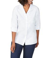 plus size women's foxcroft pandora non-iron tunic shirt