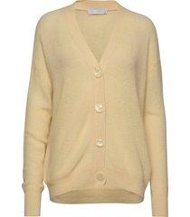 cardigan w. buttons stickad tröja cardigan beige coster copenhagen