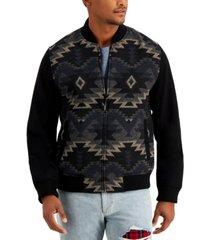 sun + stone men's geometric zip-front jacket, created for macy's