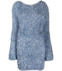antonella rizza textured jumper dress - blue