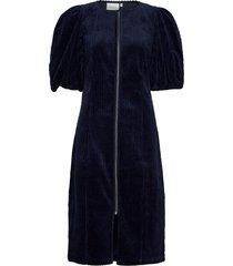 adeengz dress ma20 jurk knielengte blauw gestuz