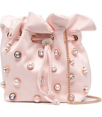 sophia webster embellished satin bucket bag - pink