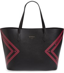 givenchy wing leather shopper - black