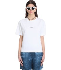 acne studios edie stamp t-shirt in white cotton