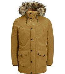 parka jas jack & jones 12174383 jjsky parka jacket golden brown
