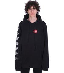 raf simons sweatshirt in black cotton