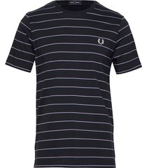 fine stripe t-shirt t-shirts short-sleeved blå fred perry